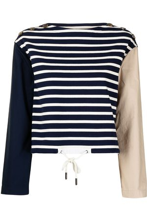 Ports V Women Sweatshirts - Colour-block striped sweatshirt