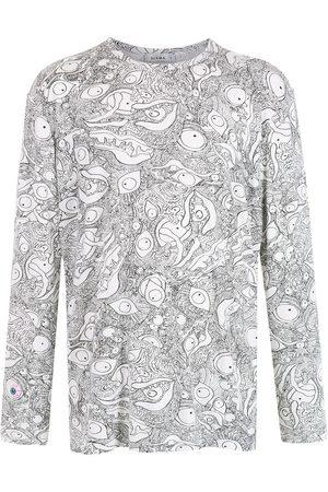 AMIR SLAMA Women Long Sleeve - Abstract-print long-sleeved T-Shirt