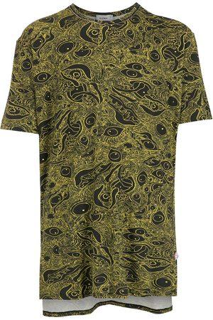 AMIR SLAMA Women Short Sleeve - Abstract-print cotton T-Shirt