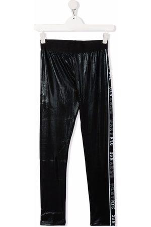 DKNY TEEN logo-tape detail leggings