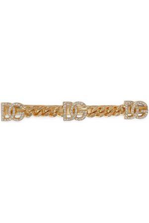 Dolce & Gabbana Rhinestone DG-logo hair clip