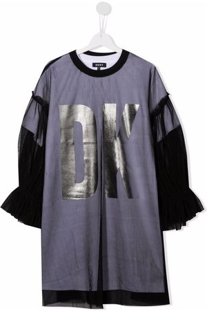 DKNY Girls Casual Dresses - TEEN tulle-layered T-shirt dress