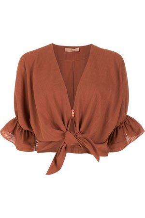 CLUBE BOSSA Rubin tie-front blouse