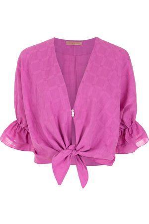 CLUBE BOSSA Women Blouses - Rubin tie-front blouse