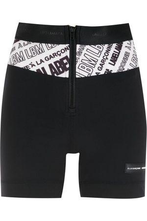 Comme des Garçons X Labellamafia logo band shorts