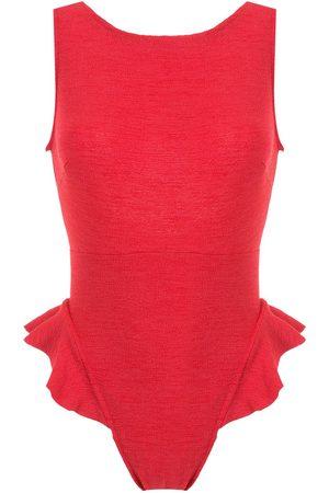 CLUBE BOSSA Goya ruffle-trimmed swimsuit