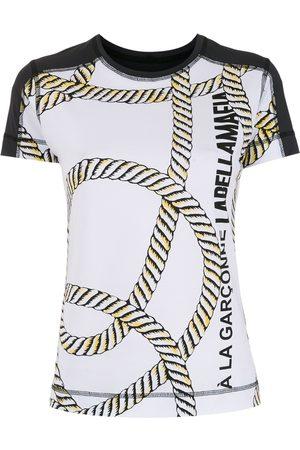 Comme des Garçons Women Short Sleeve - X Labellamafia rope-print T-shirt