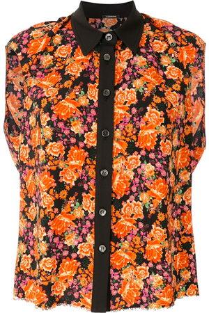 Comme des Garçons Women Tank Tops - Floral sleeveless shirt