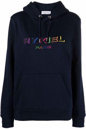 Sonia by Sonia Rykiel Women Hoodies - Embroidered logo organic cotton hoodie