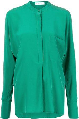 Equipment Women Tops - Marche collarless silk shirt