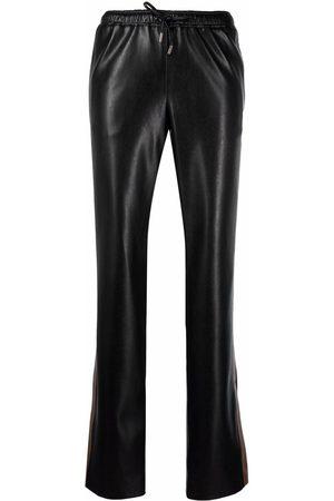 ERMANNO SCERVINO Leather track trousers