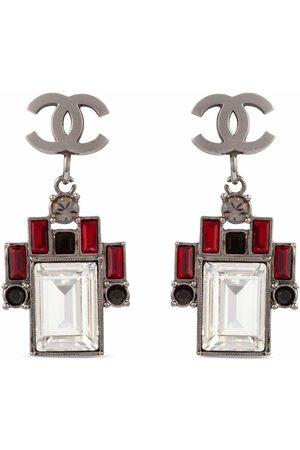 CHANEL Women Earrings - 2006 CC crystal-embellished clip-on earrings
