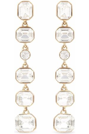 Givenchy Pre-Owned 1980s crystal-embellished drop earrings