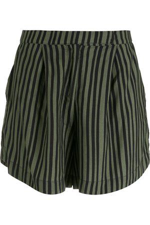 OSKLEN Women Shorts - Pinstripe loose shorts
