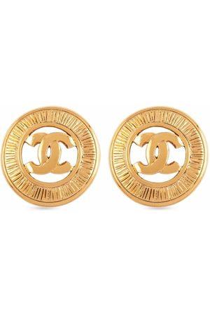 CHANEL 1980s CC logo clip-on earrings