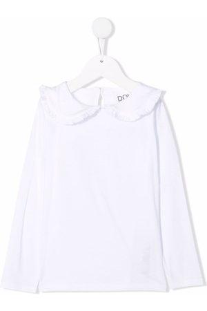DOUUOD KIDS Girls Long Sleeve - Peter-pan collar cotton top