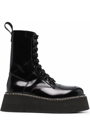 GCDS Women Boots - Commando leather boots