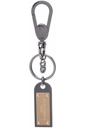Dolce & Gabbana Men Keychains - Logo plaque keychain
