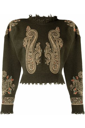 Etro Maglie embroidered knit jumper