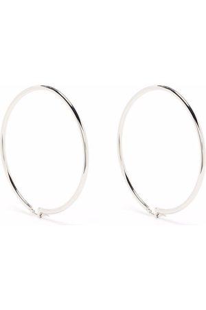 MM6 MAISON MARGIELA 2-in-1 large hoop earrings