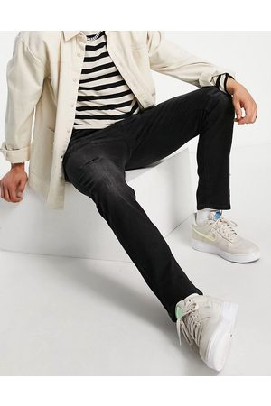 JACK & JONES Men Slim - Intelligence Tim slim straight leg jeans with abrasions in