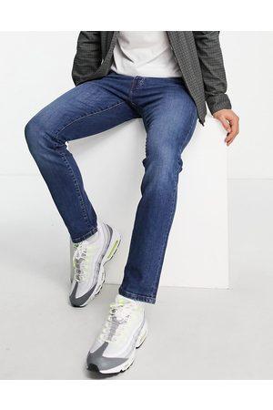 Topman Men Slim - Stretch slim jeans in mid wash