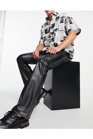 ASOS Men Bootcut & Flares - Flared jeans in leather look