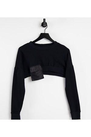 AsYou Women Sweatshirts - Cropped utility sweat in black-Neutral