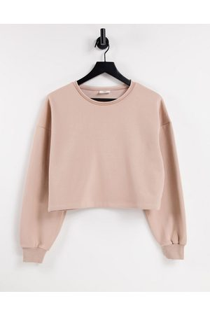 Chelsea Peers Women Sweatshirts - Organic cotton cropped sweat with raw edge detail in -Neutral