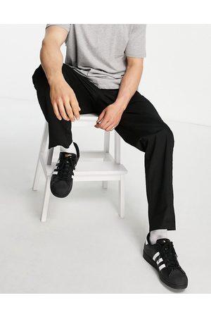 JACK & JONES Men Chinos - Intelligence wide leg chino with drawstring waist in