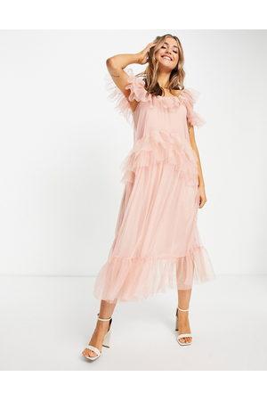 Miss Selfridge Women Party Dresses - Tulle midi dress in