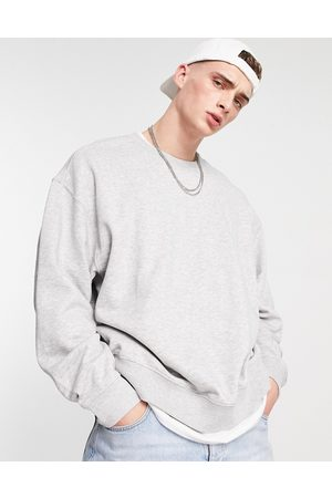 Weekday Men Sweatshirts - Oversized sweatshirt in melange