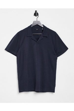 Only & Sons Men Polo Shirts - Organic cotton revere jersey polo in navy