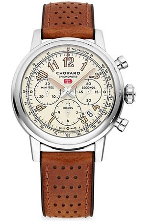Chopard Watches - Mille Miglia Classic Chronograph Raticosa Stainless Steel & Leather Strap Watch