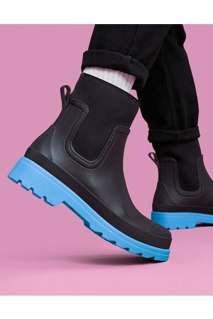 ASOS DESIGN Men Boots - Ankle length wellington boot in with contrast sole