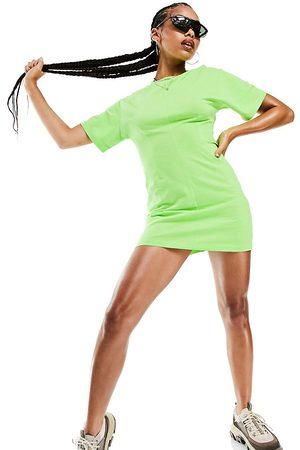 AsYou Women Casual Dresses - Seam detail t-shirt dress in lime