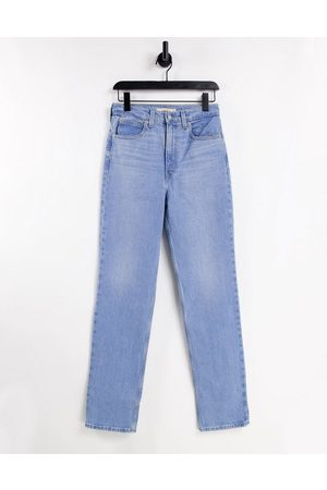 Levis Women Straight - Levi's 70's straight leg jeans in mid wash