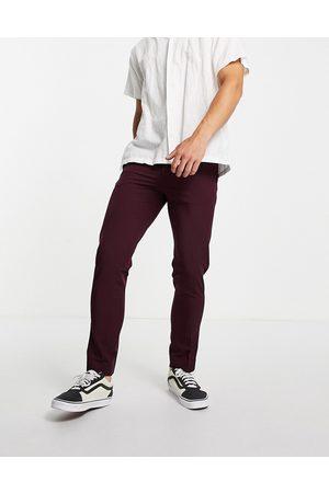 Burton Menswear Men Skinny Pants - Burton stretch skinny fit suit trousers in burgundy