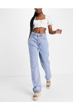 Cotton On Women High Waisted - Relaxed straight leg jeans in mid wash