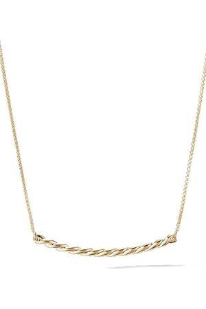 David Yurman 18kt yellow Pavéflex station necklace