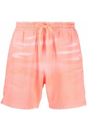 Alexander Wang Tie-dye cotton track shorts