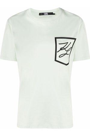 Karl Lagerfeld Women Short Sleeve - Logo-print pocket T-shirt