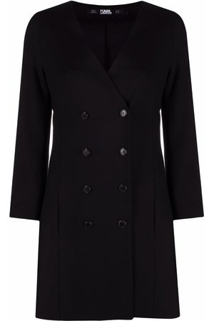 Karl Lagerfeld Double-breasted V-neck dress