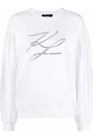 Karl Lagerfeld Puff-sleeved sweatshirt