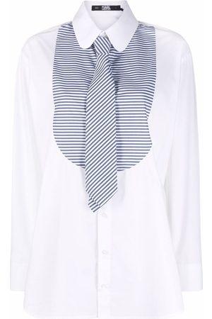 Karl Lagerfeld Women Tops - Stripe-print bib collar shirt
