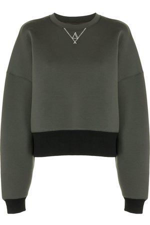 TWINSET Women Sweatshirts - Two-tone stitching-detail sweatshirt