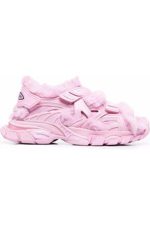 Balenciaga Faux-fur Track sandals