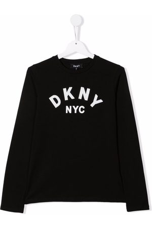 DKNY Logo-print long-sleeve T-shirt