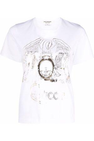 JUNYA WATANABE Women Short Sleeve - Graphic-print round-neck T-shirt