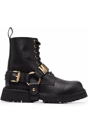 Moschino Logo-plaque ankle boots